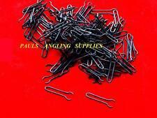 100 Carp Fishing MATT BLACK Lead Mould Clips / Loops