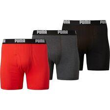 New Three(3) Pack Men's Puma Moisture Wicking Underwear Performance Boxer Brief