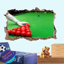 Snooker Billards Pool Sport Kids Room Nursery Bureau Autocollant Mural Art Mural XK9