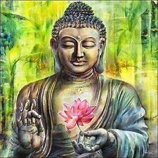 Michael Tarin: A Buddha in Peace Keilrahmen-Bild Leinwand Friede Zen Feng-Shui