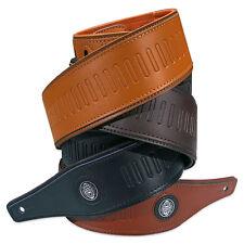 ░▒▓ GAUCHO Gitarrengurt Buffalo Three ▓▒░ gemustert weich gepolstert Leder -643