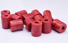 Vintage Red Cylinder Tube Barrel Beads Spacer 17 X 21 mm