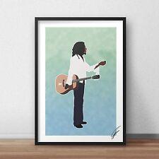 Bob Marley INSPIRED WALL ART Print / Poster A4 A3 rasta reggae Jamaica one love