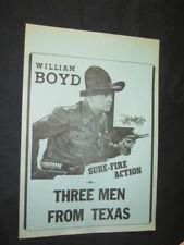 ORIG HOPALONG CASSIDY WILLIAM BOYD Three Men From Texas