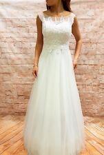 Hochzeitskleid Brautkleid Hochzeit Abiball Abendkleid Braut Kleid creme Gr.34-46
