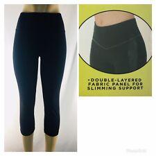 New Women's Smooth Front Capri Leggings 94% Cotton 6% Spandex ~  S M L XL