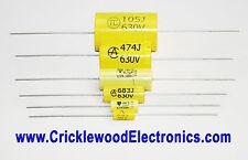 Condensatore POLIESTERE ASSIALE 250V 400V 630V1000V 1000pF a 4.7uF di qualità audio MKT