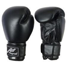PLAYWELL Guanti da boxe in pelle nera con GRATIS BENDE SPARRING ALLENAMENTO MMA