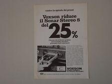 advertising Pubblicità 1974 VOXSON SONAR STEREO 8