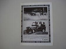 advertising Pubblicità 1980 JEEP DELTA MINI CRUISER