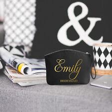 PERSONALISED Make up bag / Wristlet / Cosmetic / Wedding / Bridal / Gift Present