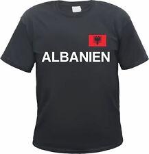 Albanien Herren T-Shirt - Flagge und Text - Schwarz oder Weiss - balkan albaner