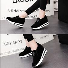 Womens Platform Hidden Wedge High Heels Ankle Sneakers Walking Casual Shoes Size