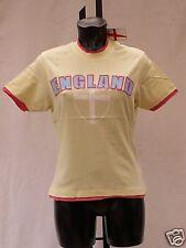 t shirt womens pale yellow tee shirt size 14 BNIP England