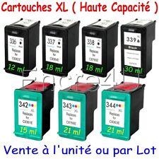 Cartouches encre HP336 XL HP337 XL HP338 XL HP339 XL HP342 XL HP343 XL HP344 XL