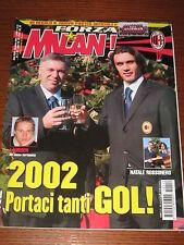 FORZA MILAN 2001/12 POSTER ROSA SQUADRA 2001/02 ANCELOTTI INZAGHI MALDINI @@