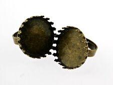 2 Ringrohlinge in antik Bronze für 25 mm Cabochon
