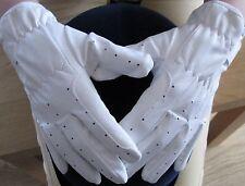 SALE Ladies Bright White Dressage Gloves Horse Riding Small Medium Large XS