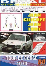 DECAL PEUGEOT 504 injection J.GUICHET TOUR DE CORSE 1970 16th (06)