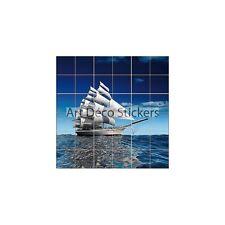 Adesivo piastrelle mural, maiolica, decocrazione cucina ou bagno Barca ref 836