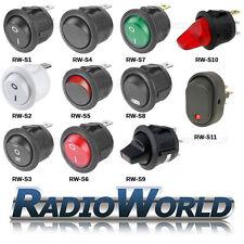 De encendido/apagado del interruptor redondo 12v / 250v Iluminado Led coche Dashboard Tablero Barco