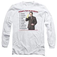 Monk Top 10 Phobias Mens Long Sleeve Shirt