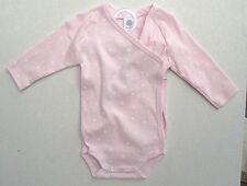 SANETTA Wickel - Body 1/1 Arm rosa Druck weiße Sterne  Gr. 68  UVP 13,95 €