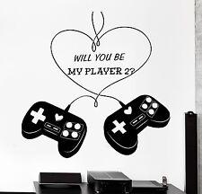 Wall Sticker Gaming Love Romantic Joystick Joypad Vinyl Decal (z3090)
