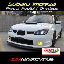 06 07 WRX STi Fog light PRECUT JDM Yellow Overlays TINT
