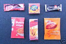 6 snack para el pub o sala de televisión Casa De Muñecas Miniaturas