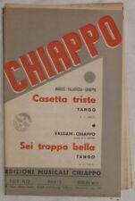 1934 MARIUS VALABREGA CASETTA TRISTE VALDAM SEI TROPPO