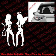 ANGEL DEVIL Sexy Girl Beauty Beast Vinyl Decal Sticker Car Window Mud Flap FY040
