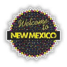 2 x Benvenuti a New Mexico Vinile Adesivi Da Viaggio Bagaglio #7727