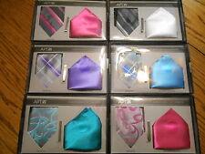 Apt. 9 Polyester Necktie Tie-Bar Pocket Square Gift Set SR$40 NEW