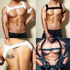 Men's Elastic Body Chest Harness Belt with Arm Band Shoulder Supper Brace Strap
