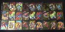 New listing 1994 Marvel Universe Rainbow Gold Silver Powerblast Insert Comic Card You Choose