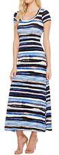 Karen Kane 2L05190 Blue-Multi Painted Stripe Stretch Jersey Maxi Dress - $129