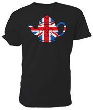 Best of British Union Jack Teapot T shirt - Choice of size & colours.