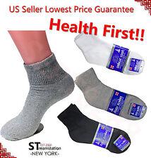 ANKLE QUARTER Diabetic Socks Circulatory Health Cotton Men Women LOOSE FIT TOP