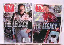 Lot 2 TV GUIDES 2002 NASCAR Dale Earnhardt HOLOGRAMS