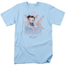 Betty Boop Pink Champagne Classy Cartoon T-Shirt Tee