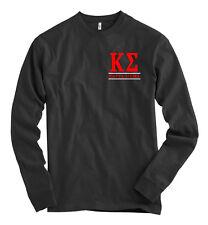 Kappa Sigma Bella + Canvas Black Long Sleeve T Shirt Letters NEW
