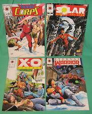 4 Valiant Comic X-O Manowar External Warrior Solar Man Atom HARD Corps 1993 New