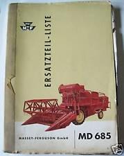 Massey Ferguson Mähdrescher MD685 ET-Liste