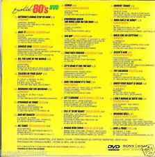 DVD PROMO ONLY 80'S Toto BILLY OCEAN Milli Vanilli Cock Robin MICHAEL JACKSON
