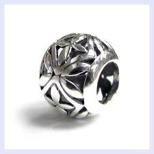 925 Sterling Silver Flower Filigree Round Focal Bead for European Charm Bracelet