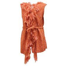 6763S gilet maglione smanicato MAURO GRIFONI bimba arancione jacket sweater kid