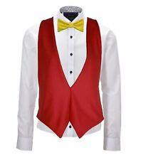 Spain Country Flag Espana Backless Waistcoat & Bowtie Fancy Dress Set Accessory