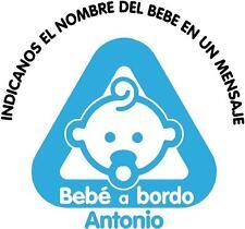 bb1)-BEBE A BORDO PERSONALIZADO VINILO PEGATINA STICKER NIÑO NIÑA COCHE ADHESIVO