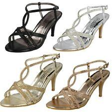 Ladies Spot On Diamante Sandals